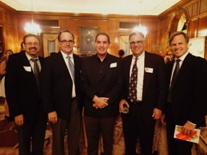 President Michael Katchman pictured with Cincinnati Children's cardiologists Dr. Jim Cnota, Dr. Michael Taylor, Dr. Russel Hirsch and Dr. Tom Kimball